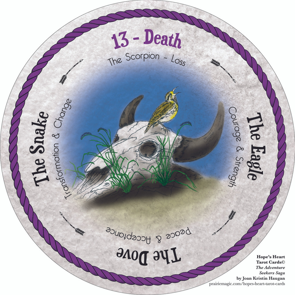 13 Death - the round Hope's Heart Tarot™ deck