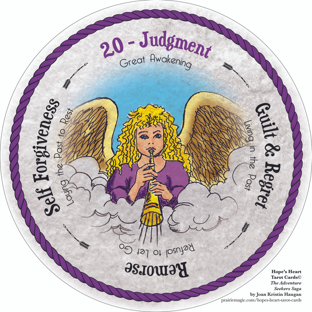 20 Judgment - the round Hope's Heart Tarot™ deck