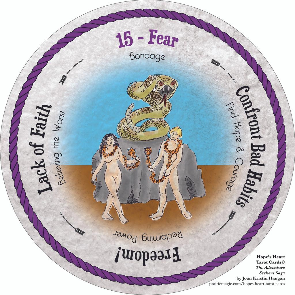15 Fear of Hope's Heart Tarot Cards Deck™