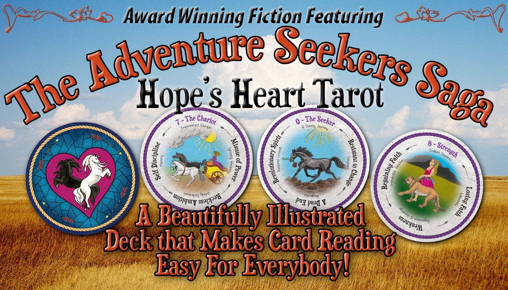 Hope's Heart Tarot Cards: Reap the benefits of tarot wisdom with this easy-to-read deck! Meaningful figures reveal card messages while wording at 90-degree intervals denotes interpretations.