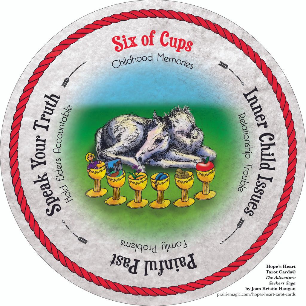 Round tarot! The Six of Cups. Hope's Heart Tarot™
