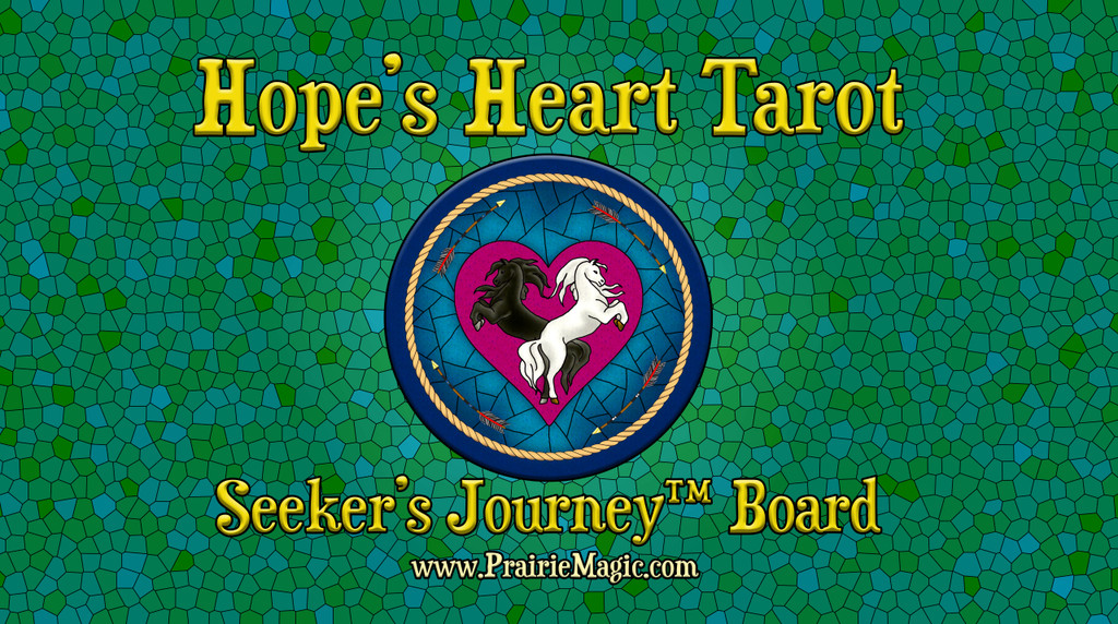 The backside of The Seeker's Journey board