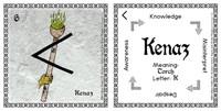 Kenaz Rune Stone Card of the Elder FUThARK Odin's Runes™