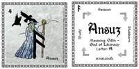 Ansuz Rune Stone Card of the Elder FUThARK Odin's Runes™