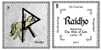 Raidho Rune Stone Card of the Elder FUThARK Odin's Runes™