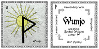 Wunjo Rune Stone Card of the Elder FUThARK Odin's Runes ™