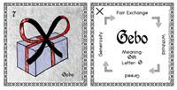 Gebo Rune Stone Card of the Elder FUThARK Odin's Runes™