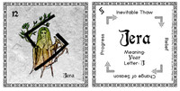 Jera Rune Card front and back Odin's Runes™
