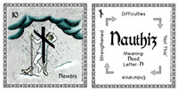 Nauthiz Rune Card front and back Odin's Runes™