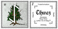 Eihwaz Rune Card front and back Odin's Runes™