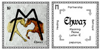 Ehwaz Rune Card front and back Odin's Runes™