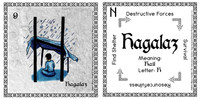 Hagalaz Rune Card front and back Odin's Runes™