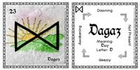 Dagaz Rune Card front and back Odin's Runes™