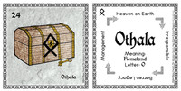 Othala Rune Card front and back Odin's Runes™