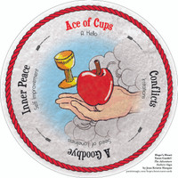 Ace of Cups  - the round Hope's Heart Tarot™ deck