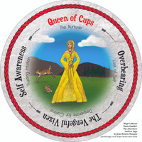 Queen of Cups  - the round Hope's Heart Tarot™ deck