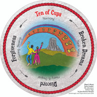 Ten of Cups  - the round Hope's Heart Tarot™ deck