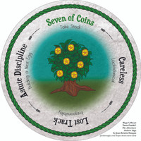 Seven of Coins - the round Hope's Heart Tarot™ deck