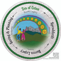 Ten of Coins - the round Hope's Heart Tarot™ deck