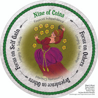 Nine of Coins - the round Hope's Heart Tarot™ deck