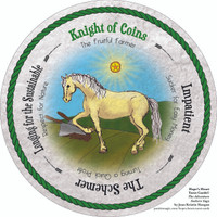 Knight of Coins - the round Hope's Heart Tarot™ deck