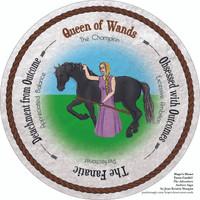 Queen of Wands- the round Hope's Heart Tarot™ deck