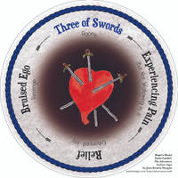 Three of Swords - the round Hope's Heart Tarot™ deck