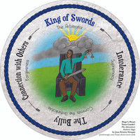 King of Swords - the round Hope's Heart Tarot™ deck