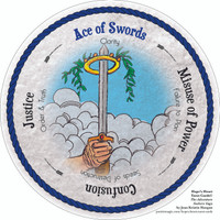 Ace of Swords- the round Hope's Heart Tarot™ deck
