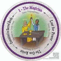 1 The Magician - the round Hope's Heart Tarot™ deck