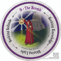 8 The Hermit - the round Hope's Heart Tarot™ deck