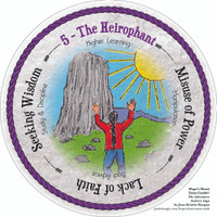 5 The Heirophant - the round Hope's Heart Tarot™ deck