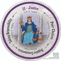 11 Justice- the round Hope's Heart Tarot™ deck