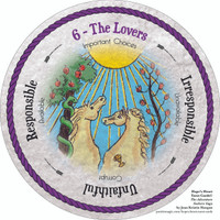 6 The Lovers - the round Hope's Heart Tarot™ deck