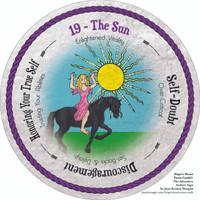 19 The Sun - the round Hope's Heart Tarot™ deck