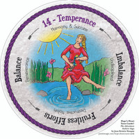 14 Temperance - the round Hope's Heart Tarot™ deck