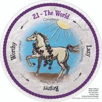 21 The World - the round Hope's Heart Tarot™ deck
