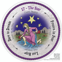 17 The Star - the round Hope's Heart Tarot™ deck