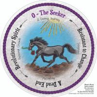 Round Tarot Card! The Seeker. Hope's Heart Tarot™