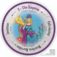 Round Tarot Card! The Empress. Hope's Heart Tarot™