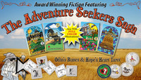 The award-winning Adventure Seekers Saga™ is a series of four visionary fiction novels beautifully illustrated with original Odin's Rune™ and Hope's Heart Tarot ™Cards. The fast-paced adventure, liberally sprinkled with witty banter and comical situations, takes place in an Old West setting you'd like to visit with characters you'd love to meet. Throughout the series, ancient wisdom helps our heroes conquer modern-day problems as they muse about Tarot cards and moon over Rune stones.  Get all six products at this very special price, a $140 value.
