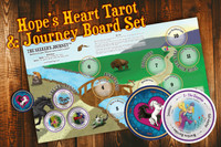 Hope's Heart Tarot™ round tarot deck and The Seeker's Journey™ layout board.