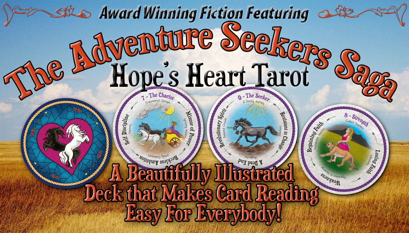 Hope's Heart Tarot™ round tarot cards with descriptive text