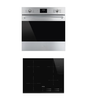 Smeg 60cm Pyrolytic Wall Oven and Induction Cooktop Package