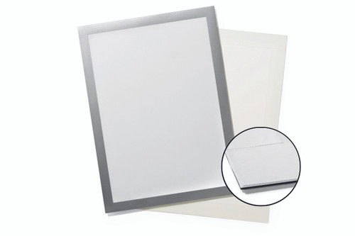 """DURAFRAME Grip for Textile Surfaces, Letter (8-1/2"""" x 11""""), Silver"""