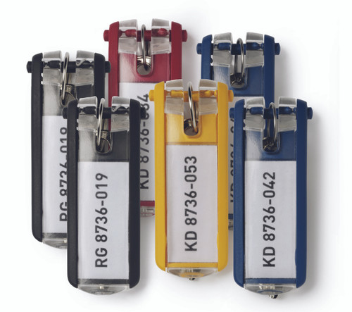 Key Tags, Assorted Colors - 24 pack