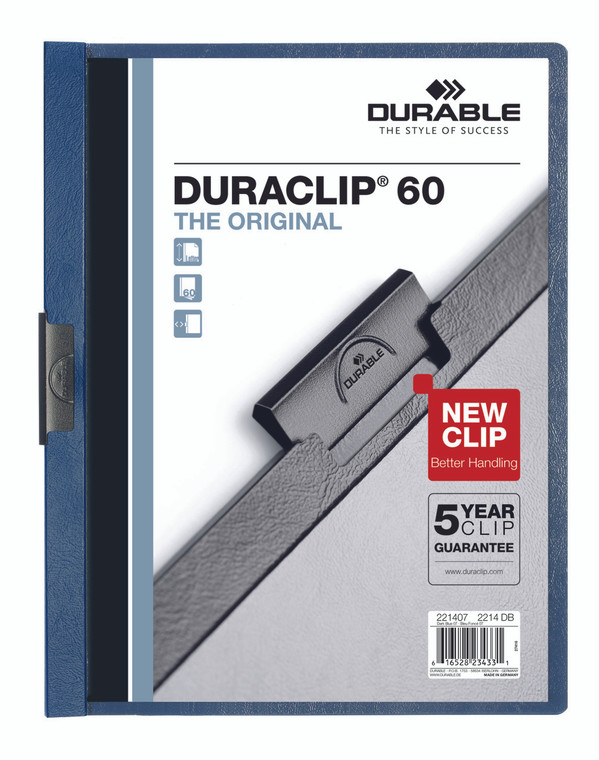 DURACLIP Report Cover, 60 Sheet Capacity, Dark Blue - 25 box