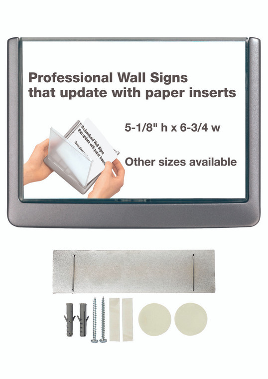"""CLICK SIGN (5-7/8"""" w x 4-1/8"""" h) with Cubicle Panel Pin"""