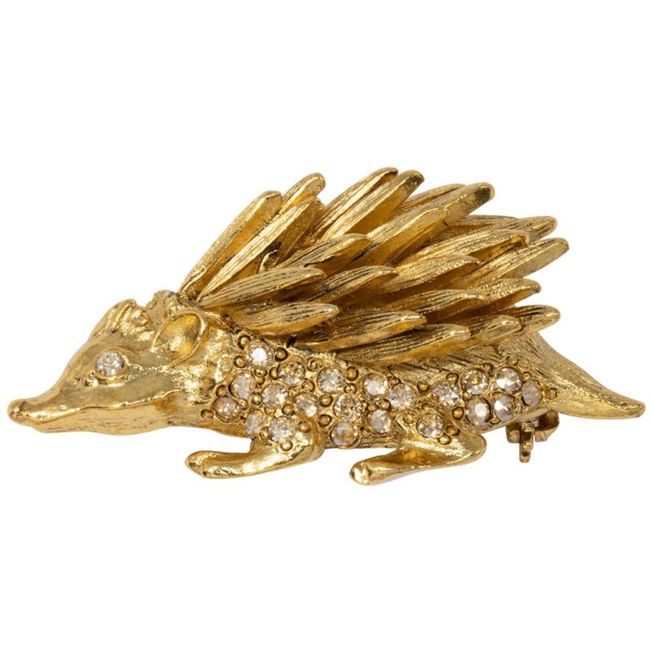 da725d75ec0 Oscar de la Renta Pave Crystal Hedgehog Brooch