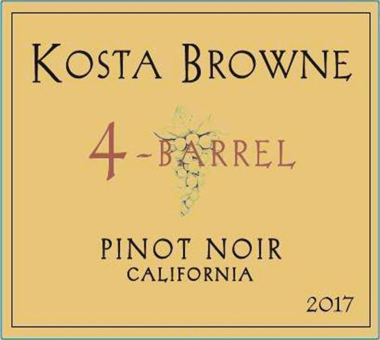 2017 Kosta Browne 4 Barrel Pinot Noir